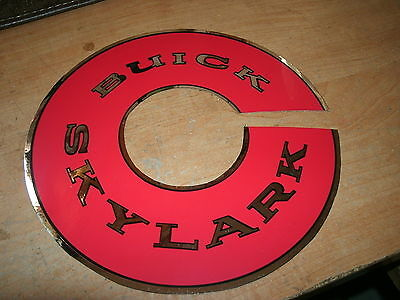 1961 1962 1963 Buick Skylark Air Cleaner Top Lid Decal Sticker Red Chr 7