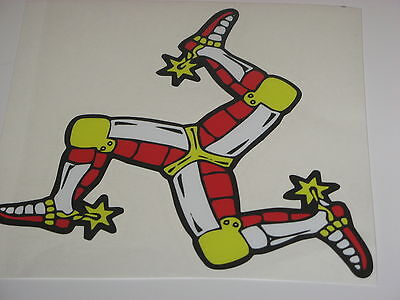 """ISLE OF MAN LEGS STICKER - TT RACES - 3"""" x 3"""""""