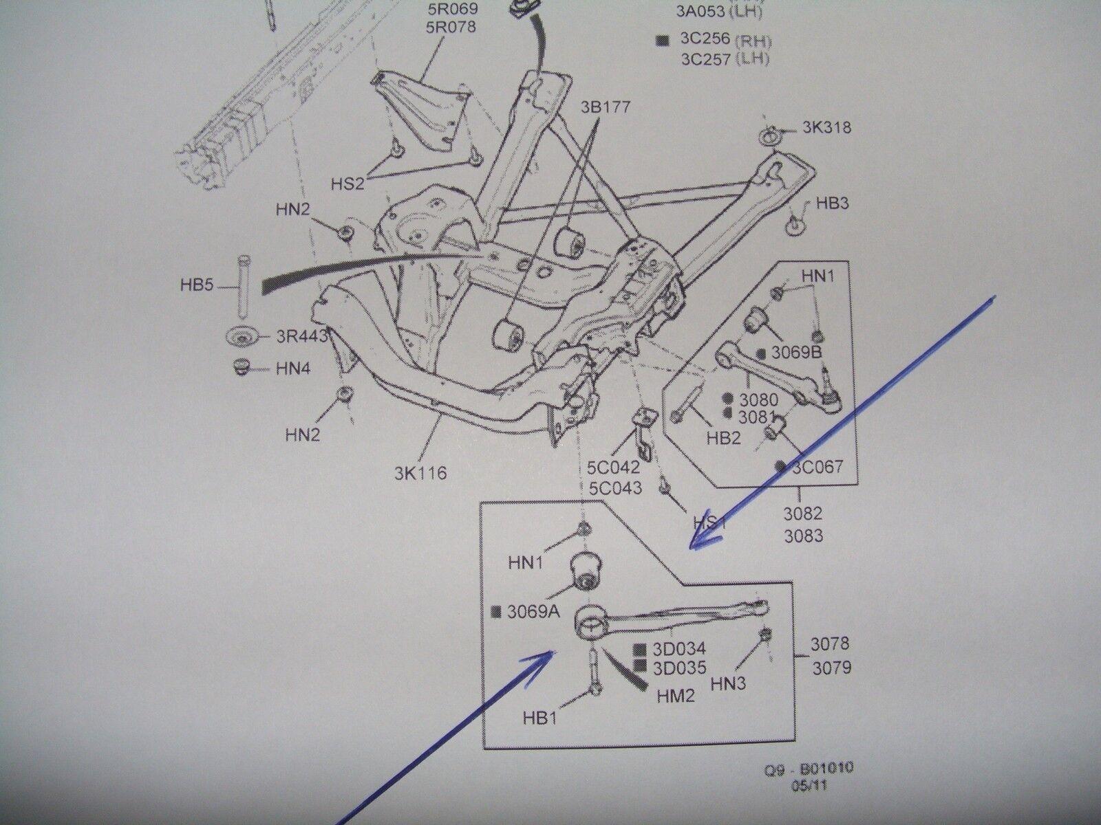 Front Arm Left Suspension Arm Control Arm Suits Ford