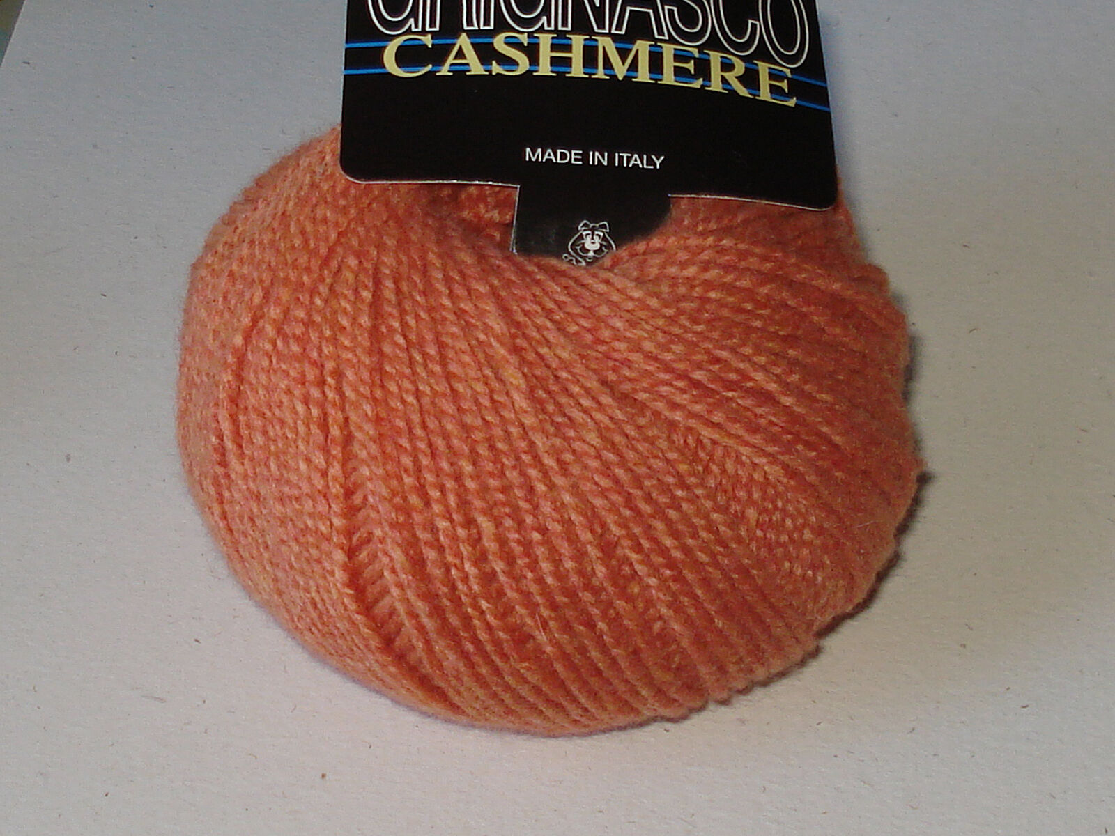 Grignasco 100% Fine Italian Cashmere Yarn Soft Heathered Blood Orange Singles