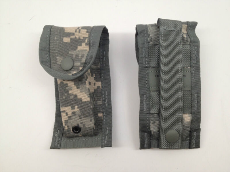 USGI Molle II 9 MM magazine pouch ACU universal camo bug out bag new