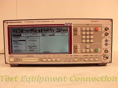 Rohde Schwarz Sfm-b16 Tv Test Transmitter