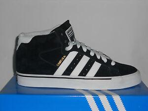 Adidas-CAMPUS-VULC-MID-Black-White-Stripe-Metallic-Gold-Skate-107-Mens-Shoes