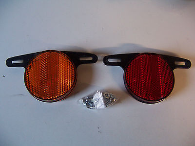 Bicycle Reflectors Front And Rear For Plastic Wheels