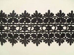 Beautiful Black  GUIPURE/VENISE Lace Trim    3
