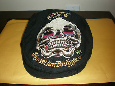 Kids Youth Christian Audigier Black Hat With Tags