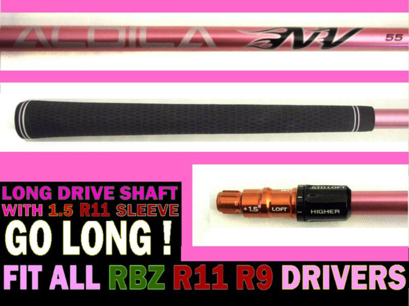 TaylorMade R11 R9 RBZ Long Drive Aldila Pink NV 55 Stiff Driver SHAFT+SLEEVE TIP
