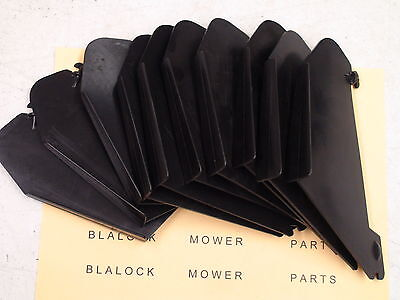 8993 (lot Of 7) Toro 52-7060 Snowblower Air Vanes Fits Snowmaster S-200 & S-620