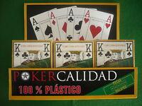 12 Barajas Poker,100% Plastico, Calidad ,votos ++++100% En Tienda +110 €. Holdem -  - ebay.es