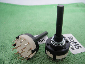 1pcs-3-Pole-4-Position-Solder-Panel-PCB-Lug-Non-Shorting-ROTARY-SWITCH-3P4A