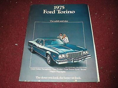 1975 Ford Torino Gran Torino Sport Uncirculated Original Sales Brochure