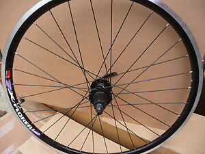 Rear-Alloy-BLACK-MTB-ATB-Bike-26-Wheel-QR-DISC-BLACK-QUANDO-HUB-6-DISC-HOLE-NEW
