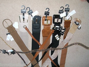 PRIMARK-NUDE-TAN-BLACK-GOLD-FAUX-LEATHER-STRETCH-BELT-BRAND-NEW