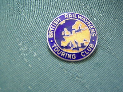 VINTAGE BRITISH RAILWAYMENS TOURING CLUB ENAMEL PIN BADGE - FATTORINI