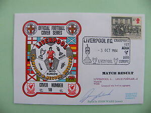 JOHN-WARK-SIGNED-AUTOGRAPH-FIRST-DAY-COVER-FDC-LIVERPOOL-V-LECH-POZNAN-EURO-CUP