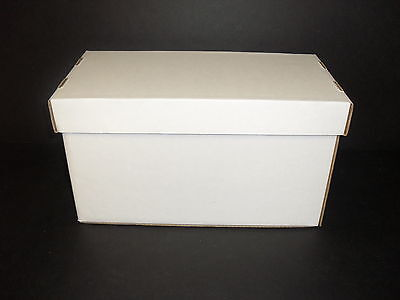 25 White Cardboard Storage Boxes W/lids For 45rpm Records-holds150 7 Records