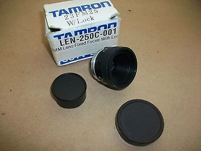Tamron Cc 25mm Camera Lens 23fm25 W/ Lock In Box