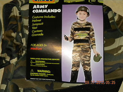 Army Commando Halloween Costume/ Dress Up Fantasy Play- Size Medium for Ages 3+](Army Dress Up Costume)