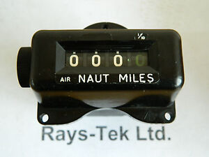 Ex RAF Avro Vulcan Air Mileage Indicator Nautical Miles [R1B]