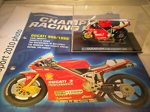 Deagostini-Champion-Racing-Bikes-Issue-1-Ducati-996-1999-Car-Fogarty