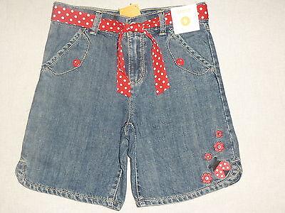 Gymboree Polka Dot Ladybug Blue Jean Gem Flower Red Belted Shorts 3 4 6 7