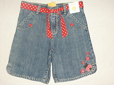 Gymboree Polka Dot Ladybug Blue Jean Gem Flower Red Belted Shorts 3 4 6 7