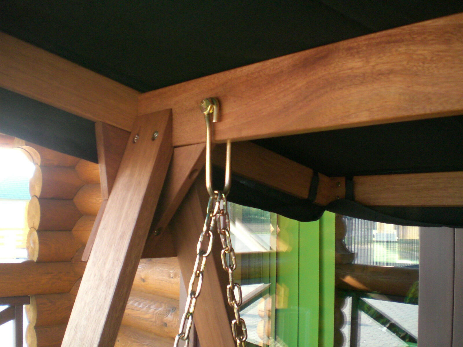 Hollywoodschaukel Holz Mit Auflage ~ Hollywoodschaukel BAHAMA Liege Bett Funktion Auflage Dach MERANTI