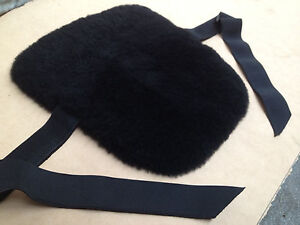 New Sheepskin motorcycle Black Seat Cover