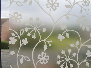 FLOWER-WHITE-FROSTED-GLASS-EFFECT-STATIC-CLING-SELF-ADHESIVE-VINYL-FILM-1-5m