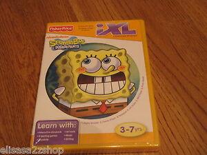 Spongebob-squarepants-IXL-learning-system-game-3-7-yrs-NEW-Fisher-price-writing