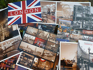 London-UK-England-Souvenir-Postcards-Iconic-Landmark-Buildings-British-Heritage