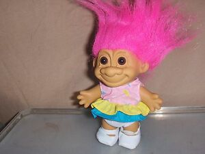 New-5-inch-Troll-Doll-Sundress-Russ-New-Mint-Condition-New-1992