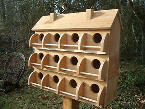 PURPLE-MARTIN-BIRD-HOUSE-12-COMPARTMENTS-MADE-OF-WESTERN-RED-CEDAR-BIRDS