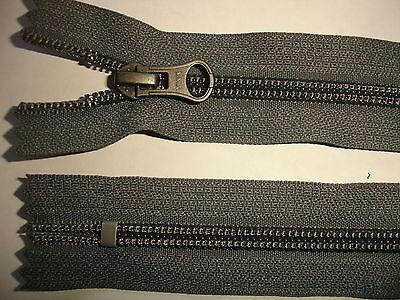 RV 384 - Reißverschluß grau ykk 16 cm lang, nicht teilbar 2 Stück