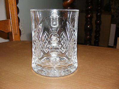 Prudential Rock Logo Cut Glass Crystal Mug/PRUPAC Business Conference 1998