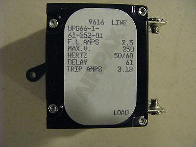 Airpax Upg66-1-61-252-01 Circuit Breaker Nsn: 5925-01-307-4451