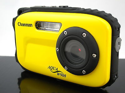 12mp Underwater Digital Camera, 30ft Waterproof, Yellow, Dustproof, Freezeproof