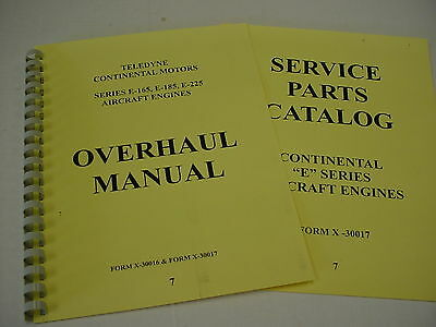 Continental Engines E165 E185 E225 Overhaul & Parts Manual -7