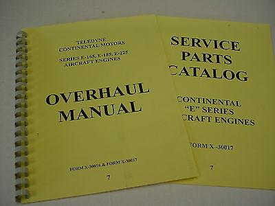 Continental Engines E165 E185 E225 Overhaul & Parts Manual -7