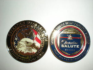 LARGE ANHEUSER-BUSCH OPERATION IRAQI FREEDOM CHALLENGE COIN