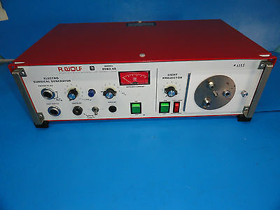 Wolf 2083.40 Electrosurgical Generatoresu With Light Projector Source 3926