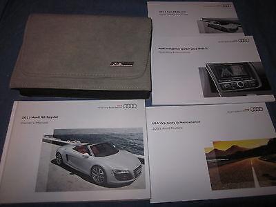 2011 Audi R8 Spyder Owners Manual Owner's R 8 Set W/ Navigation