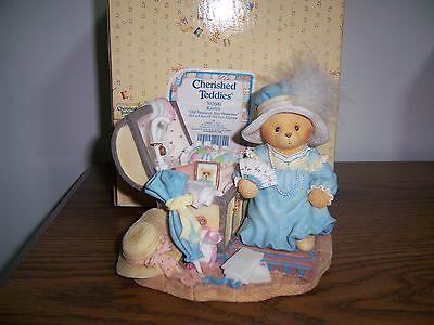 "Cherished Teddies Kaitlyn ""Old Treasures, New Memories"" Figurine NIB"