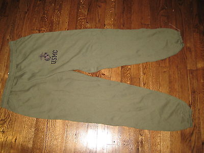 Usmc,sweat Pants, Pt,new Old Stock,50%/50%,issue,medium Nsn Crossed Out