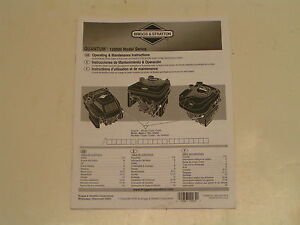 Briggs And Stratton 6Hp Quantum Engine Manual