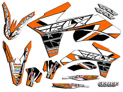 2001 2002 Ktm Exc 125 200 250 300 380 400 520 Graphics Kit Deco Decals