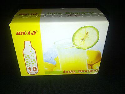 90 Co2 8g Soda Chargers Mosa 8 Gram C02 Seltzer Cartridges Sparklet Carbonated