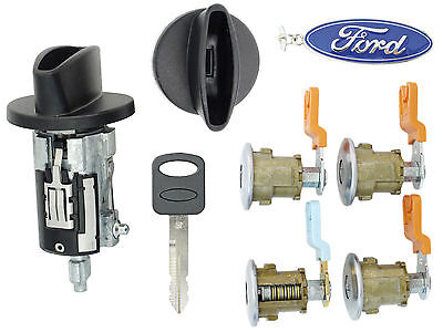 Ford Econoline Van - E150 E250 E350 Ignition Cylinder & 4 Door Lock Set & Cargo