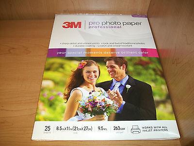 "3M High Gloss Professional Photo Paper 8.5"" x 11"" Inkjet 9.5mil - 25 sheets"