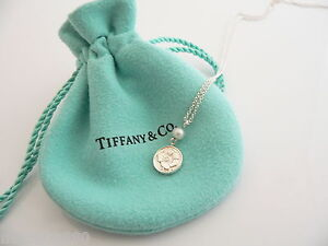 Tiffany-Co-Silver-Nature-Rose-Pearl-Necklace-Pendant-Charm-Chain-Rare